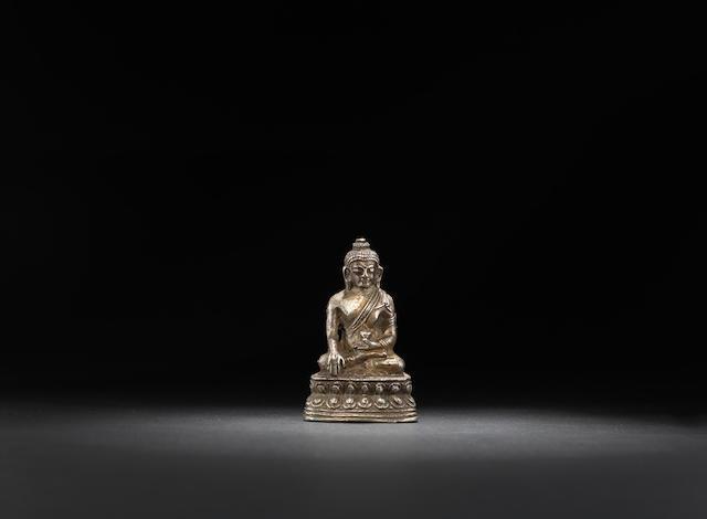 A cast silver Buddha Qing dynasty, 18th century