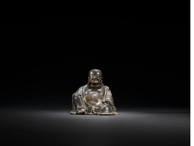 A bronze Budai Ming dynasty, 17th century