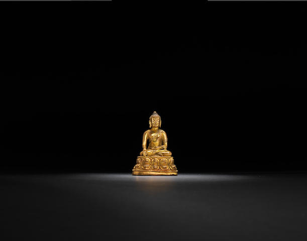 A gilt-bronze seated Buddha Qing dynasty, 18th century