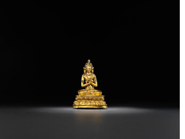A gilt-bronze Vajradhara Ming dynasty, 15th century