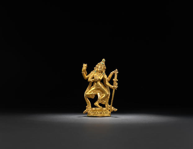 A gilt-bronze Kurukulla Qing dynasty, 18th century