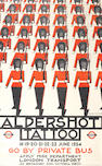 Andrew-Power (Sybil Andrews & Cyril Power) (British, 1898-1993 & 1872-1951) Aldershot Tattoo Lithographic poster printed in red and black, 1934, on thin wove, printed by Waterlow & Sons Ltd, London, commissioned by London Transport, 1000 x 610mm (39 3/8 x 24in)(SH)