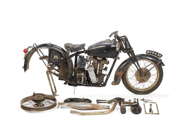 1939 Velocette KTS Project Frame no. 5274 Engine no. KSS8742