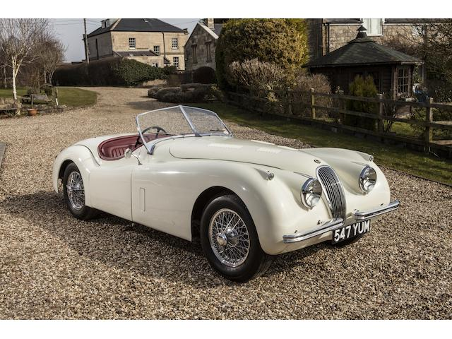 1952 Jaguar XK120 Roadster, Chassis no. SABTVRO372B268757 Engine no. W6989