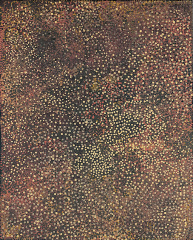 Emily Kam Kngawarray (Emily Kame Kngwarreye)(circa 1916-1996) Untitled (Dried Flowers and Fruits), 1990