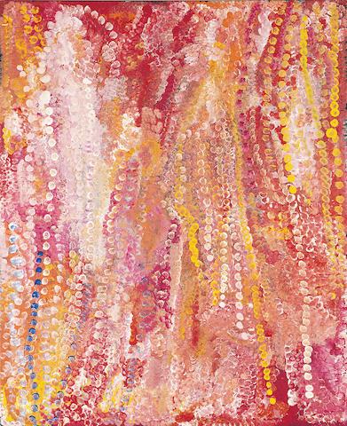 Emily Kam Kngawarray (Emily Kame Kngwarreye)(circa 1916-1996) Untitled (Alalgura Landscape/Yam Flowers), 1995