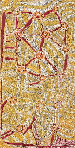 Eubena Nampitjin (born circa 1924) Artist's Country, 1990