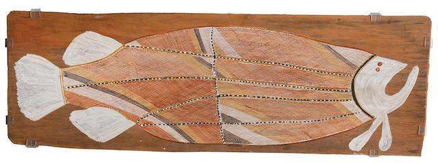 John Mawurndjul (born circa 1952) Birlmu or Namarnkorl (Barramundi), 2002