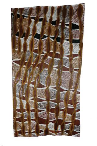 Barrupu Yunupingu (1948-2012) Untitled (Ancestral Fire), 2010