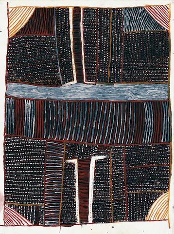 Kutuwalumi  Purawarrumpatu (Kitty Kantilla) (circa 1928-2003) Untitled (Pumpuni Jilamara), 2001