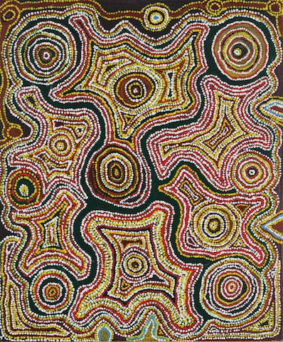 Mick Gill Tjakamarra (circa 1920-2002) Lappi Lappi (Water Dreaming), 1986
