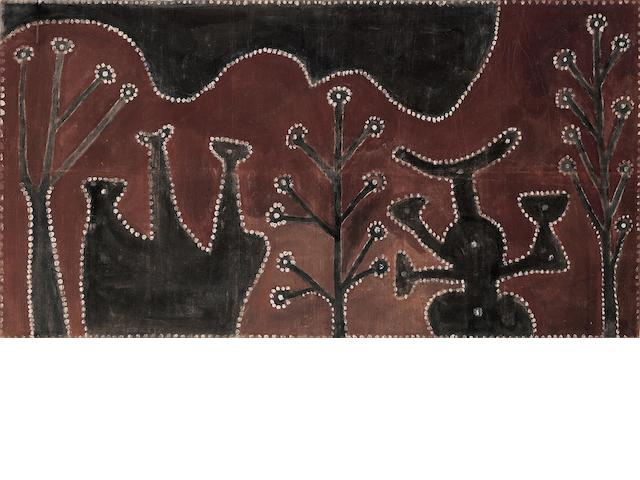 Paddy Jaminji (circa 1912-1996) Untitled (Men's Ceremonial Ground, Springvale), 1984