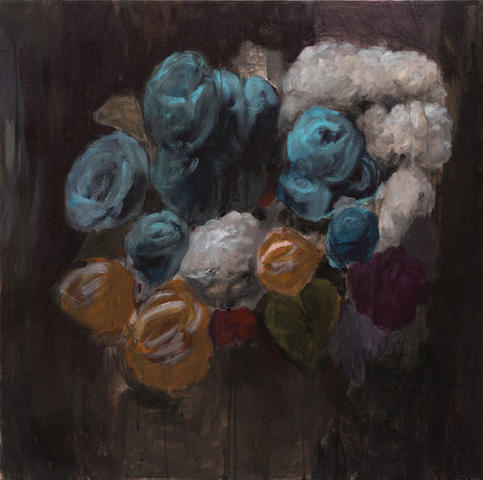 Tony Clark (born 1954) Floral Design with Roses, 2002