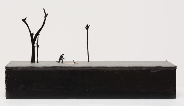 Noel McKenna (born 1956) Man with Birds, 1991 35.4 x 67.7 x 22.6cm (13 15/16 x 26 5/8 x 8 7/8in).