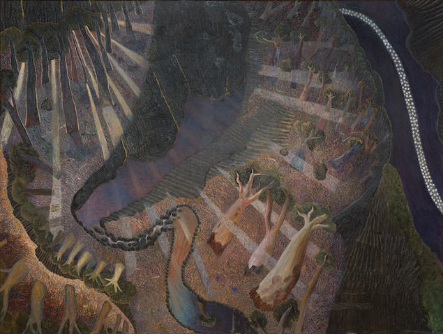 William Robinson (born 1936) Landscape with Night and Day, 1989