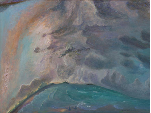 William Robinson (born 1936) Late Afternoon, The Sea and Mt Warning, 1996