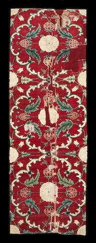 A fine Mughal carpet Fragment Northern India, Kashmir or Lahore second half of 17th Century