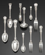 A comprehensive Coburg pattern table service of flatware and cutlery by Garrard & Co Ltd, London 1971 and Sheffield 1971
