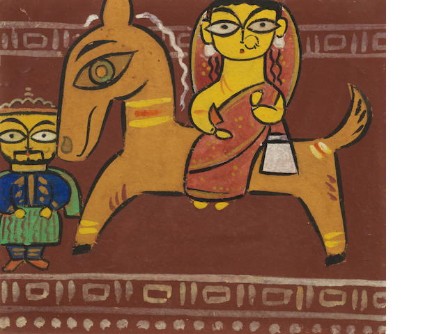 Jamini Roy (India, 1887-1972) Untitled (Flight in Egypt),