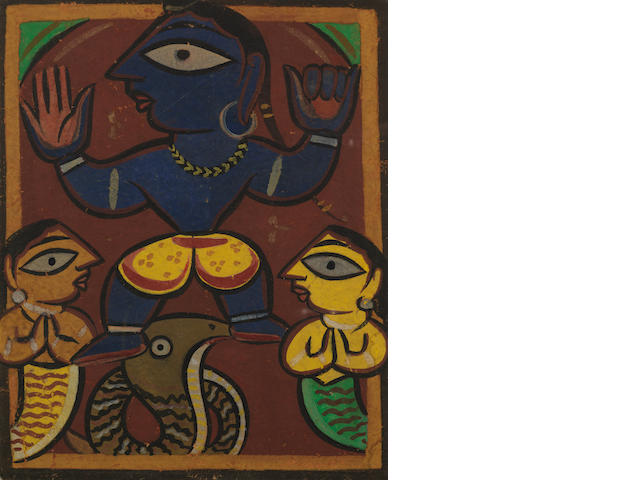Jamini Roy (India, 1887-1972) Untitled (Snake Charmer),