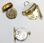 A collection of antique and later pocket watches (6)
