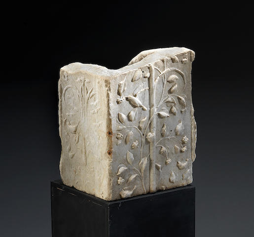 A Roman marble decorative architectural fragment