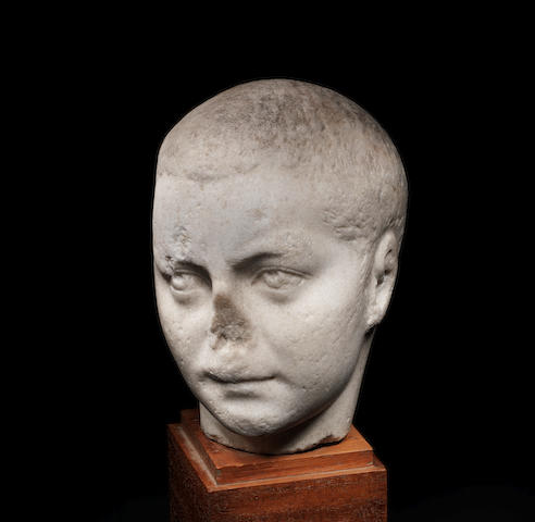 A Roman marble portrait head of the Emperor Gordian III