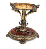 An Austrian silver gilt brass table centre piece