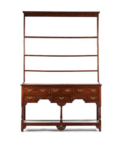 An early 19th century oak high dresser, Carmarthenshire, circa 1830-40