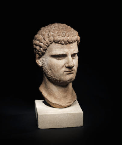 A Roman marble portrait head of the Emperor Caracalla