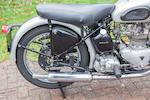 1951 Triumph 499cc Tiger T100 Frame no. 4009NA Engine no. T100 4009NA