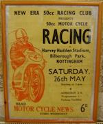 Three 1960s motorcycle event posters,