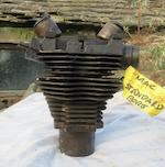 A Velocette 350cc MAC engine and two Velocette gearboxes,