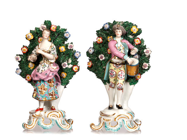 A pair of late 19th Century Samson figurines