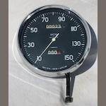 A Vincent Black Shadow 150mph speedometer, by Smiths,