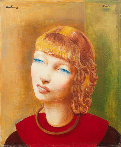 Moïse Kisling (French, 1891-1953) Jeune fils rousse, signed, inscribed & dated Paris 1937, oil on canvas, Kisling tome 3 edition, 1995