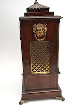 A mid-19th century walnut bracket clock Engraved 'Will Strange, clock maker, Kingston'