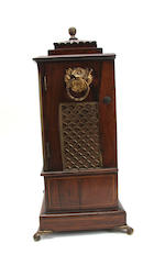 A mid 19th century walnut bracket clock Engraved 'Will Strange, clock maker, Kingston