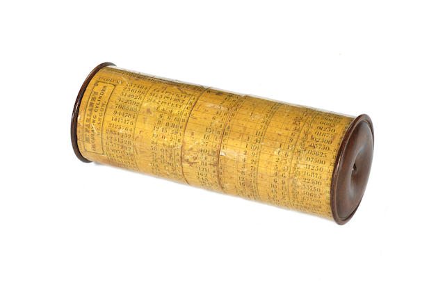 A rare McFarlane's calculating cylinder, Glasgow