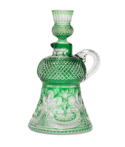 A rare Stevens and Williams scotch whisky decanter and stopper by Joshua Hodgetts, circa 1880