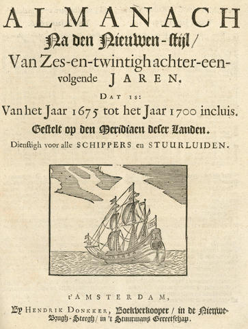 LASTMAN (CORNELIS JANSZ)  Konst der Stuurluiden, 3 parts in one vol., 1675