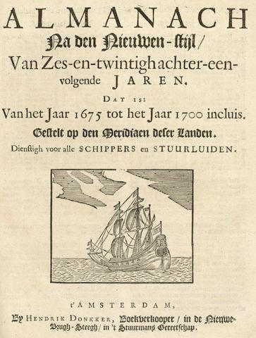 LASTMAN (CORNELIS JANSZ)  Konst der Stuurluiden, 3 parts in one vol., 1675