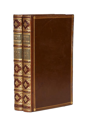 TENNYSON (ALFRED) Poems, 2 vol., FIRST EDITION, 1842