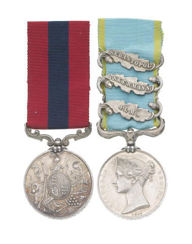 A Crimean D.C.M. pair to Corporal J.Campbell, 49th Regiment,