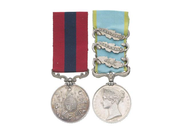 A Crimean D.C.M. pair to Corporal J.Campbell, 49th Regiment,