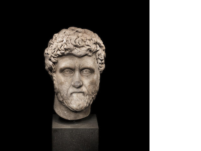 A Roman marble head of Aelius