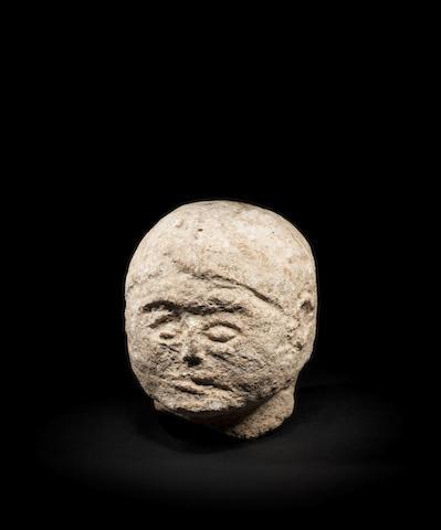 A small Celtic stone head
