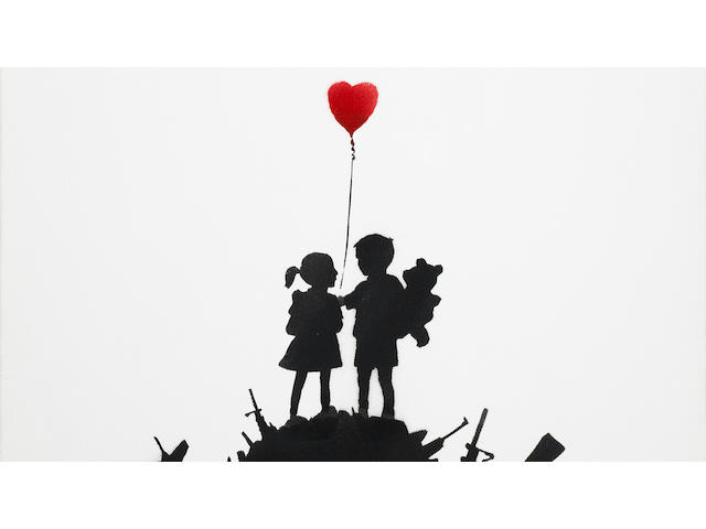 Banksy (b. 1975) Kids on Guns