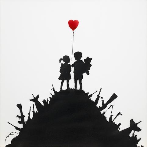Banksy (b. 1975) Kids on Guns