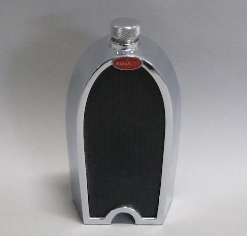 A Bugatti radiator decanter by Ruddspeed, British, circa 1960,